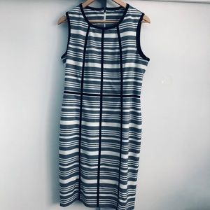 Dresses & Skirts - Fitted Striped Black White Everyday Dress.